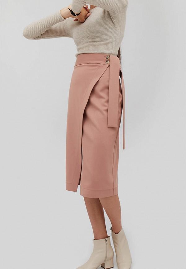 женская прямые юбка cardo, розовая