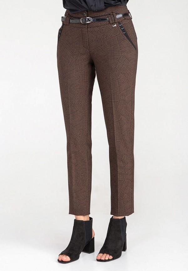 женские повседневные брюки das, коричневые