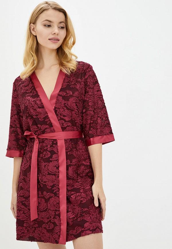 женский халат komilfo, бордовый
