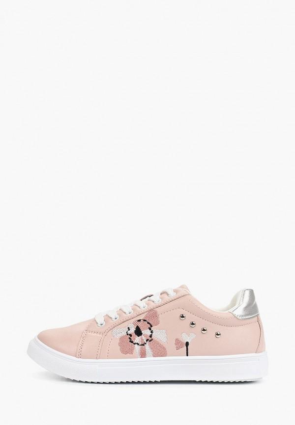 женские низкие кеды t.taccardi, розовые