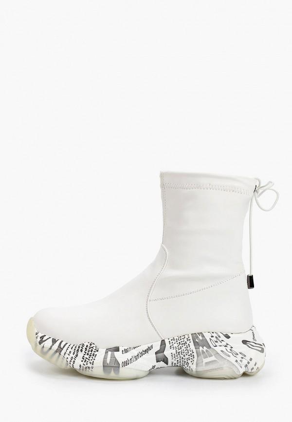 женские высокие кроссовки ridlstep, белые