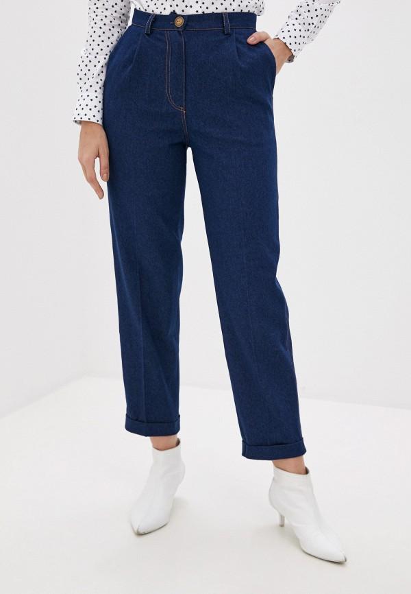 женские джинсы бойфренд hi art, синие