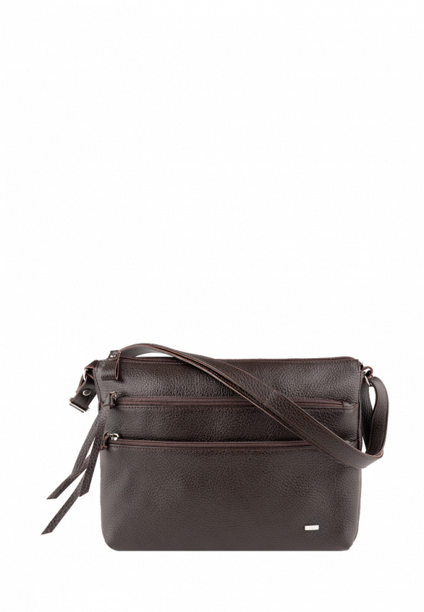 женская сумка через плечо esse, коричневая