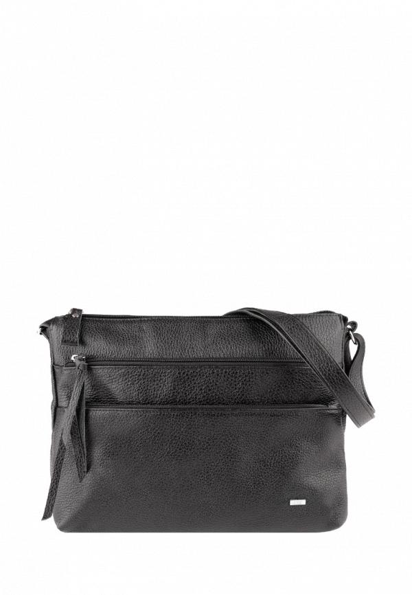 женская сумка через плечо esse, черная