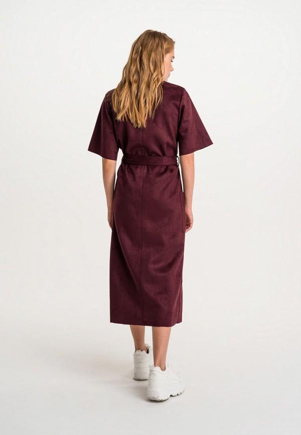 Фото 3 - Женское платье Befree бордового цвета