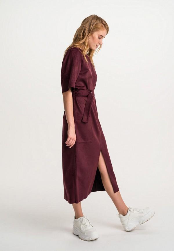 Фото - Женское платье Befree бордового цвета