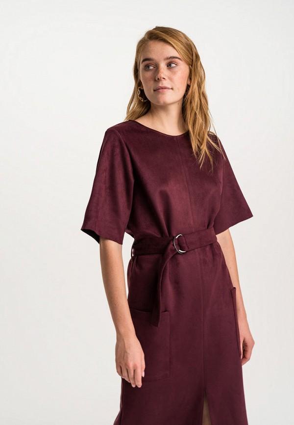 Фото 2 - Женское платье Befree бордового цвета