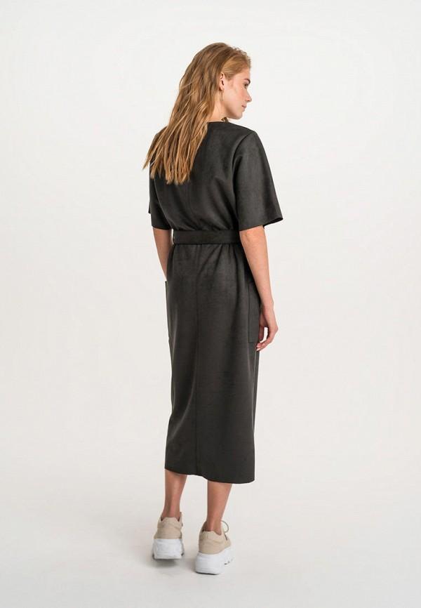Фото 3 - Женское платье Befree серого цвета
