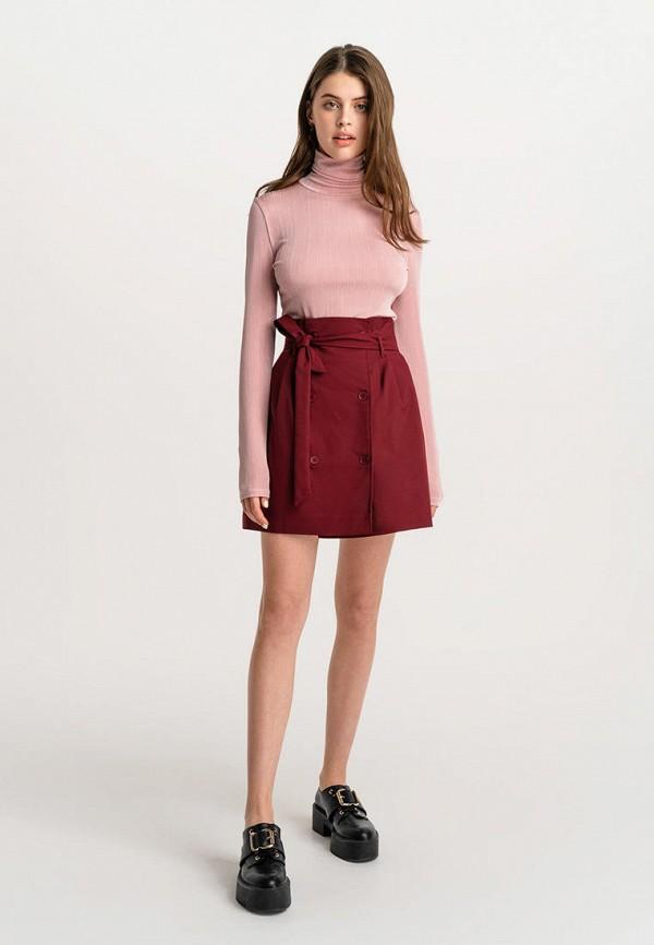 Фото 2 - Женскую юбку Befree бордового цвета