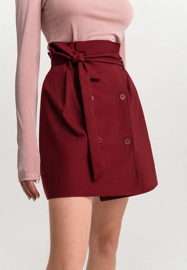 Фото 4 - Женскую юбку Befree бордового цвета