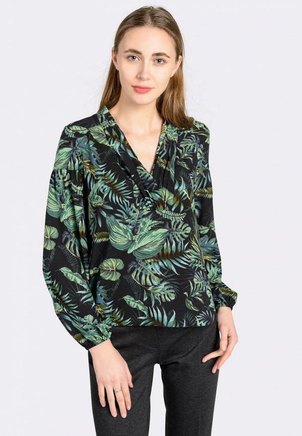 женская блузка cat orange, зеленая