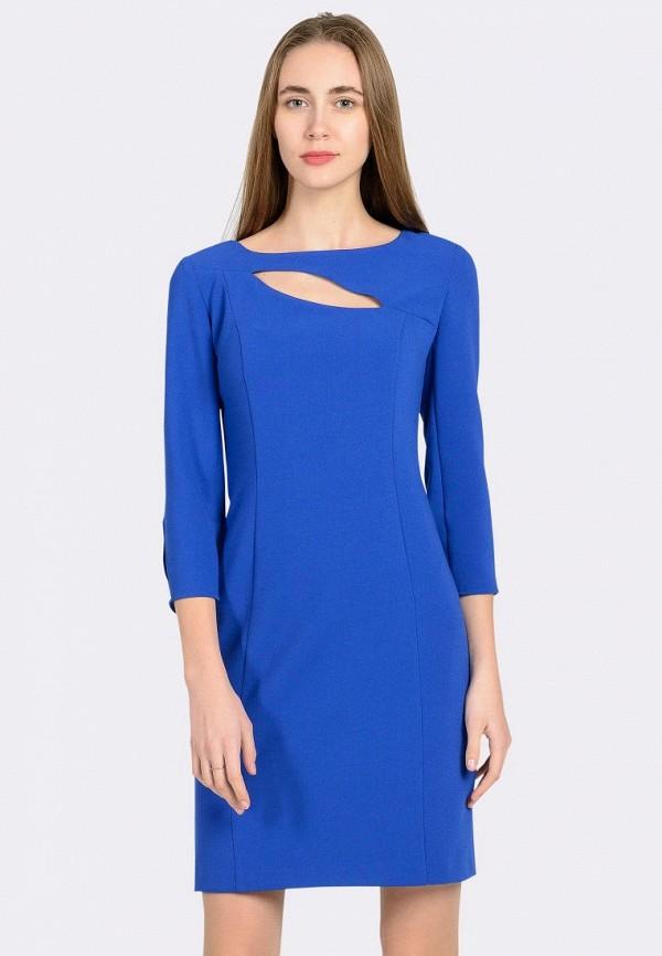 женское платье-футляр cat orange, синее