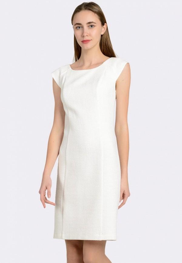 женское платье-футляр cat orange, белое
