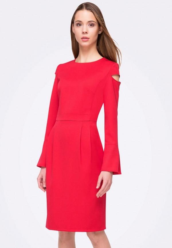 женское платье-футляр cat orange, красное