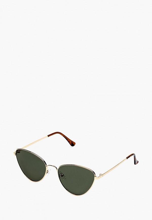женские солнцезащитные очки fashionlab, зеленые