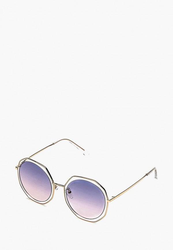 женские солнцезащитные очки fashionlab, фиолетовые