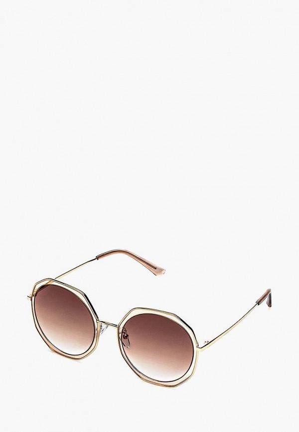 женские солнцезащитные очки fashionlab, коричневые