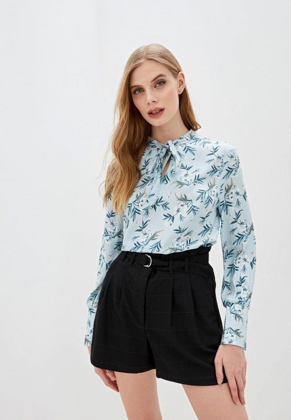 женская блузка с длинным рукавом mark formelle, голубая