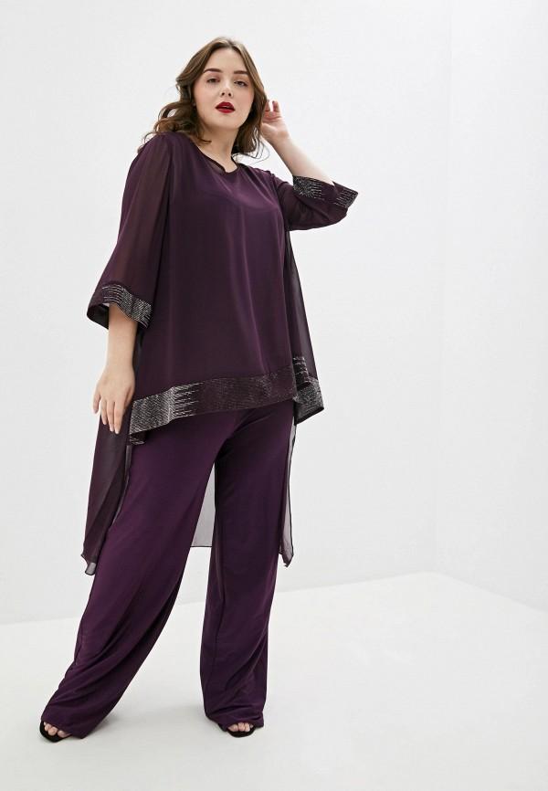 женский комбинезон с брюками milomoor, фиолетовый