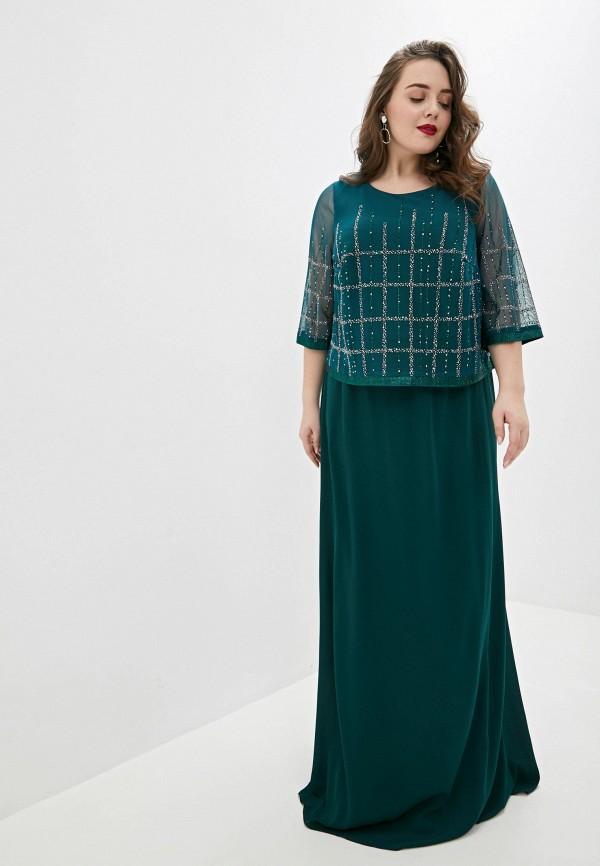 женское вечерние платье milomoor, зеленое