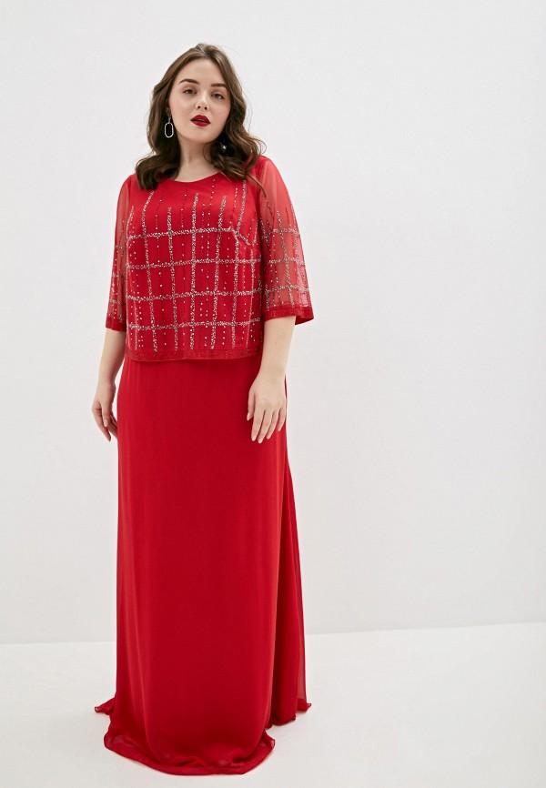 женское вечерние платье milomoor, красное