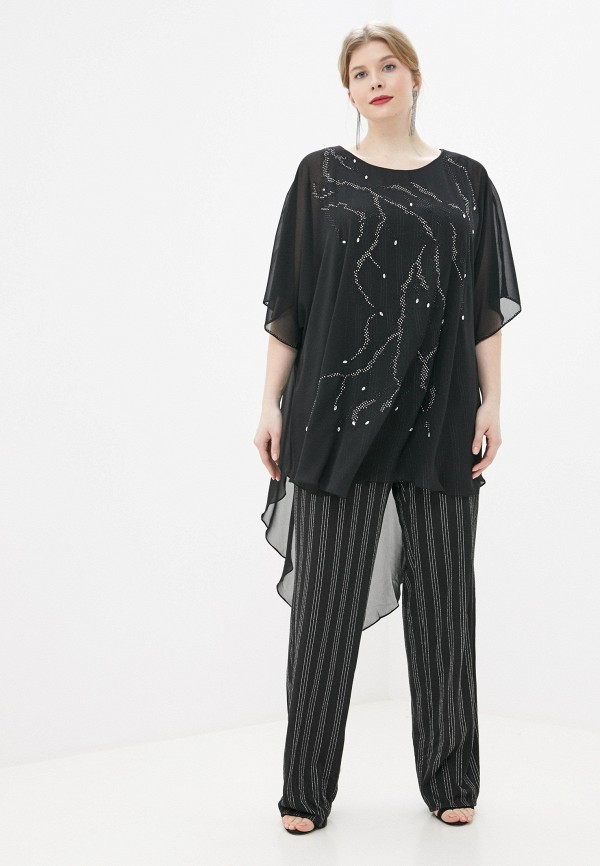 женский комбинезон с брюками milomoor, черный