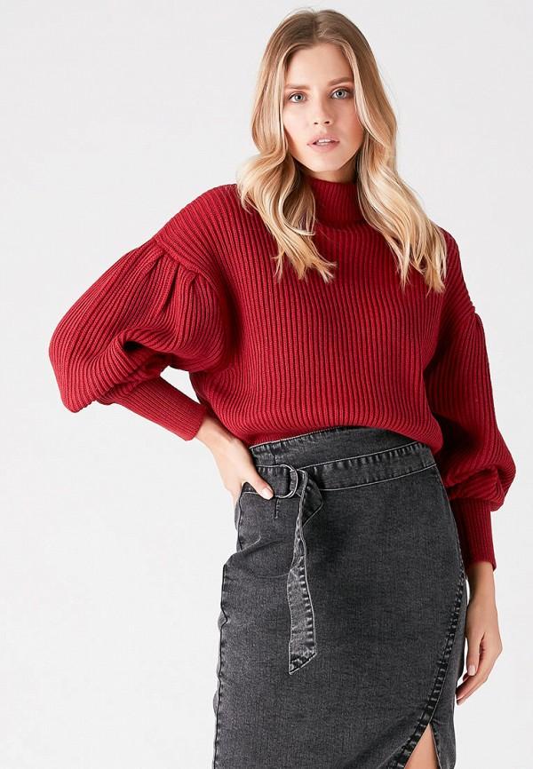 женский свитер love republic, бордовый