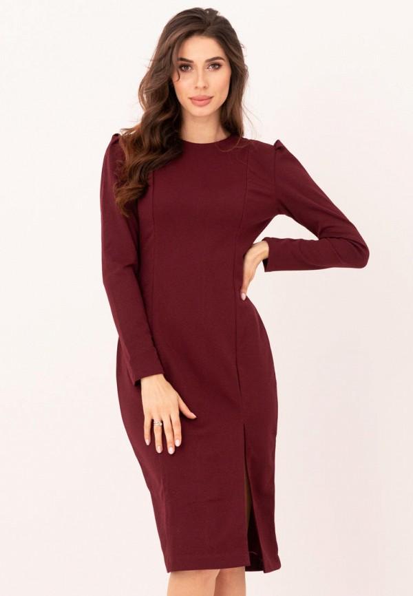 женское платье-футляр magnet, бордовое