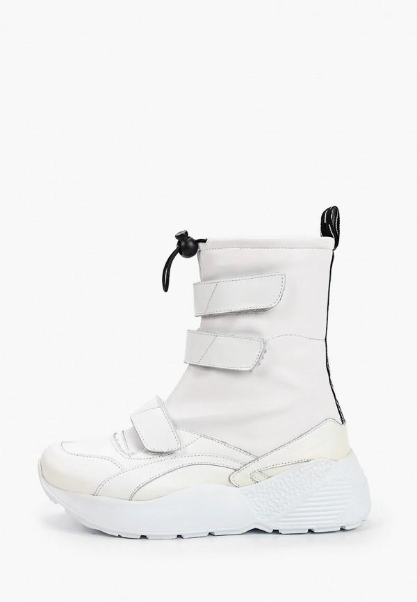 женские высокие ботинки pazolini, белые