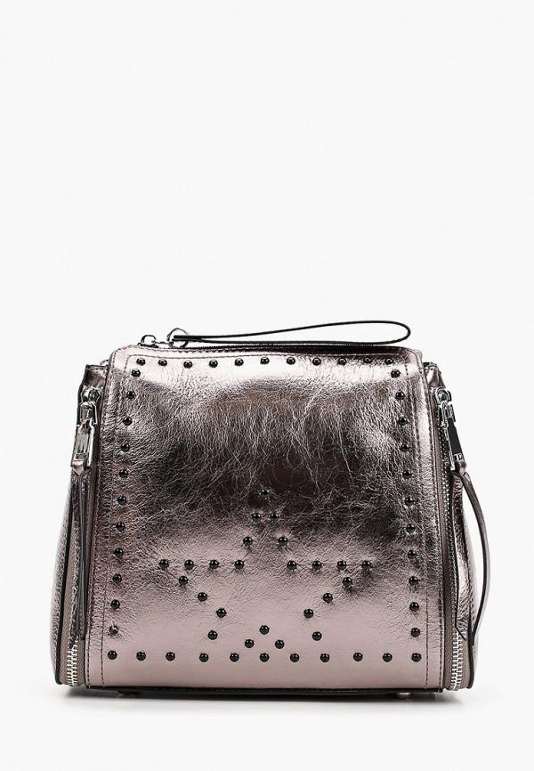 женская сумка с ручками marco bonne', серебряная
