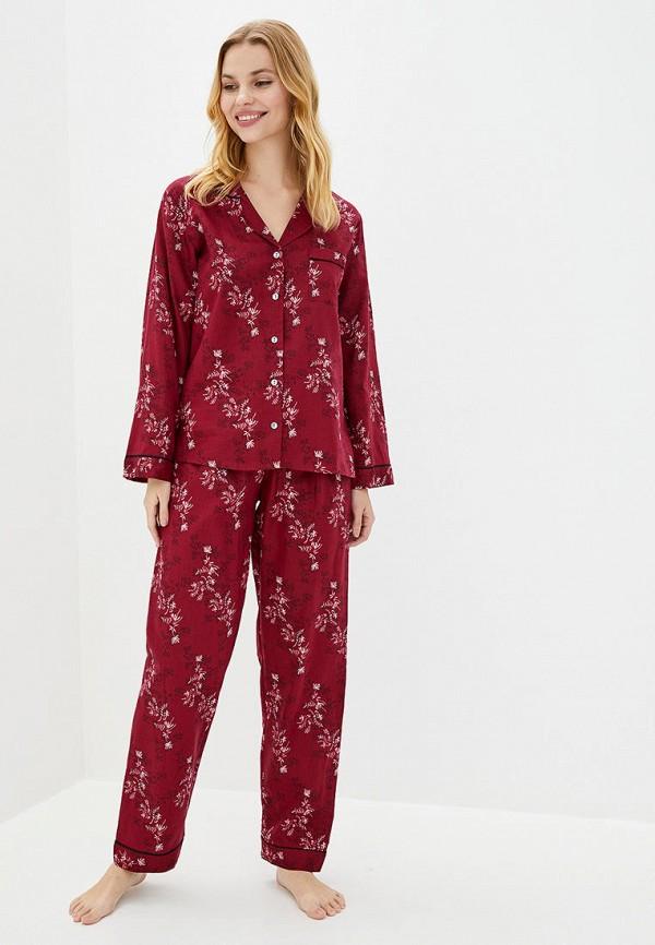 женская пижама nora rose, бордовая
