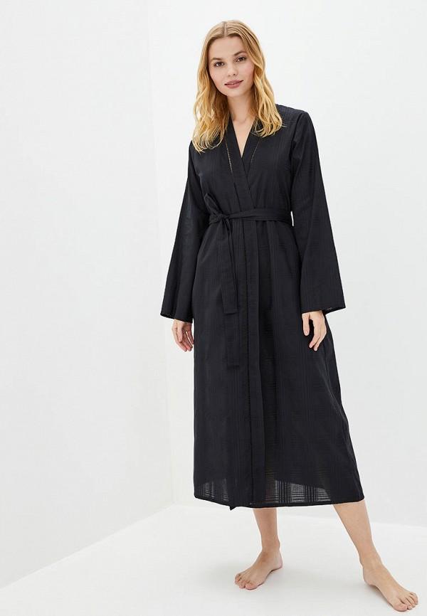 женский халат nora rose, черный