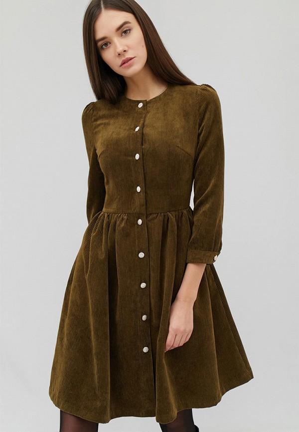 женское повседневные платье cardo, хаки
