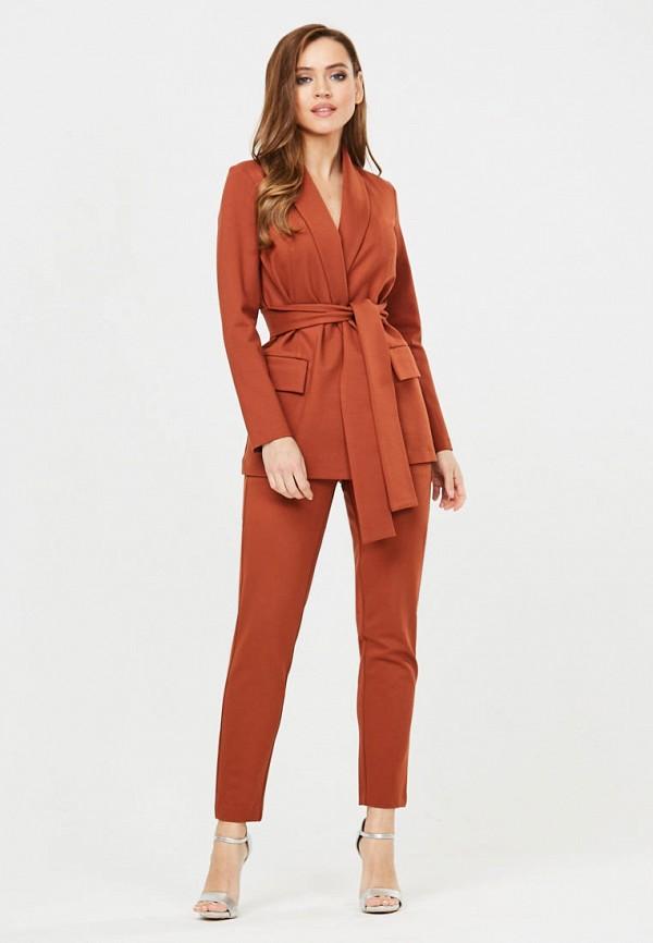 женский костюм vika ra, коричневый