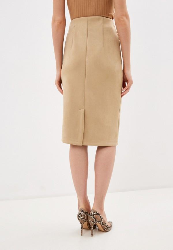 Фото 3 - Женскую юбку Befree бежевого цвета