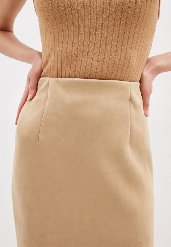 Фото 4 - Женскую юбку Befree бежевого цвета