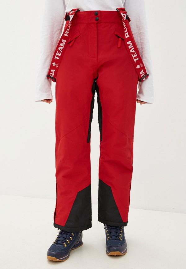 женские горнолыжные брюки zasport, красные
