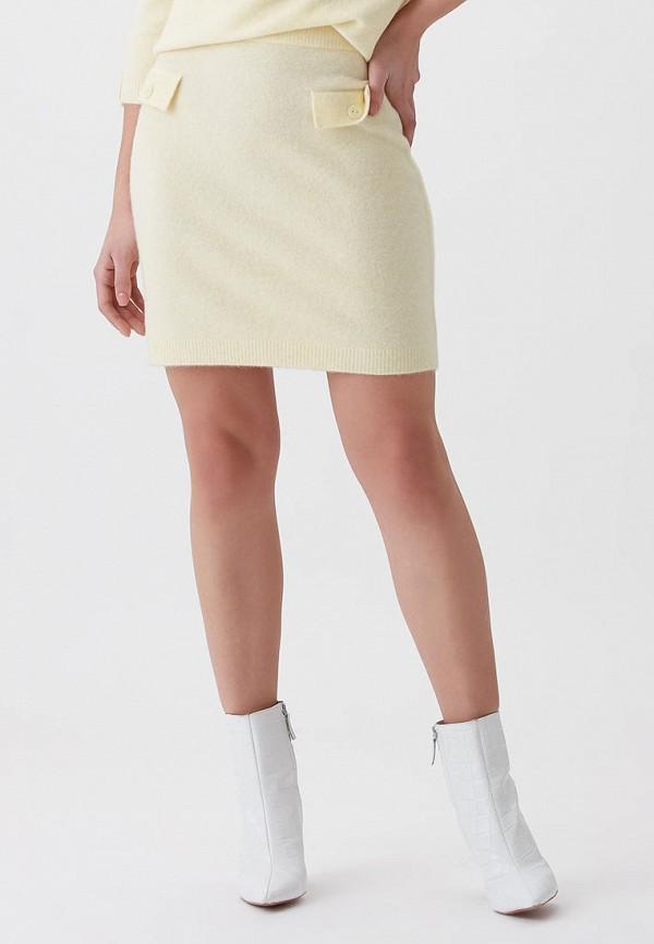 женская узкие юбка love republic, желтая