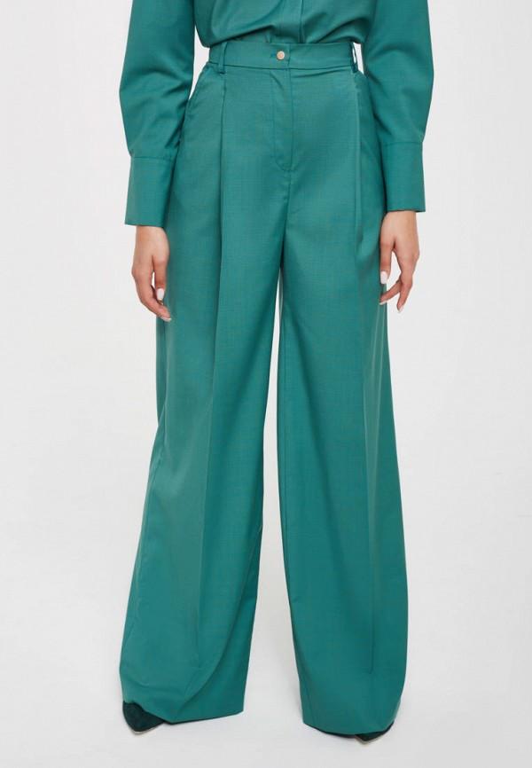 женские повседневные брюки pattern, бирюзовые
