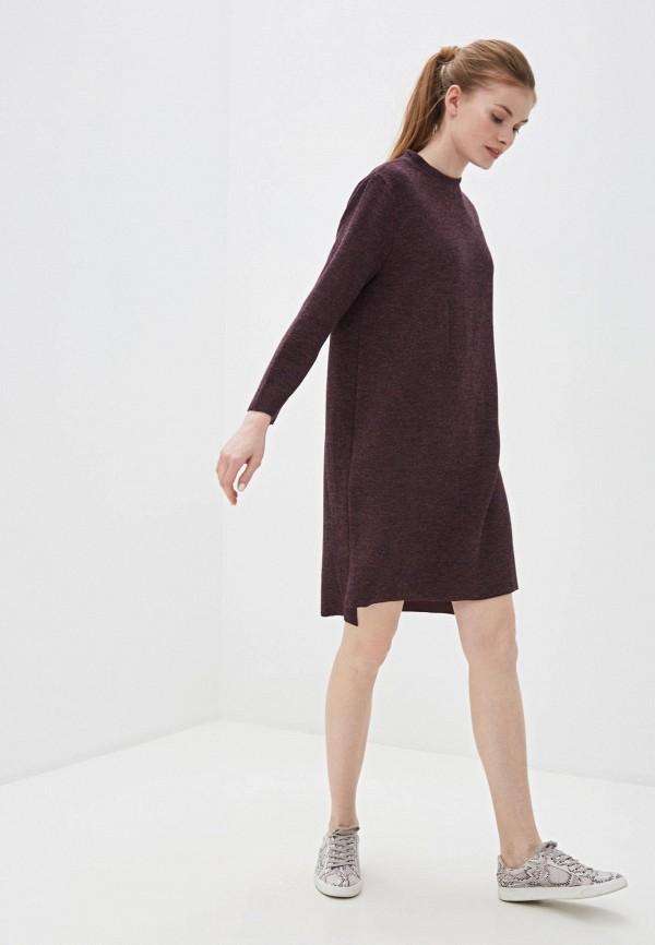 Фото 2 - Женское вязаное платье Befree фиолетового цвета
