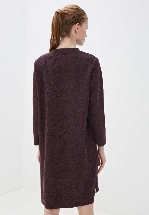 Фото 3 - Женское вязаное платье Befree фиолетового цвета
