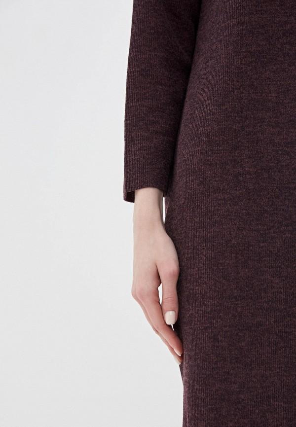 Фото 4 - Женское вязаное платье Befree фиолетового цвета