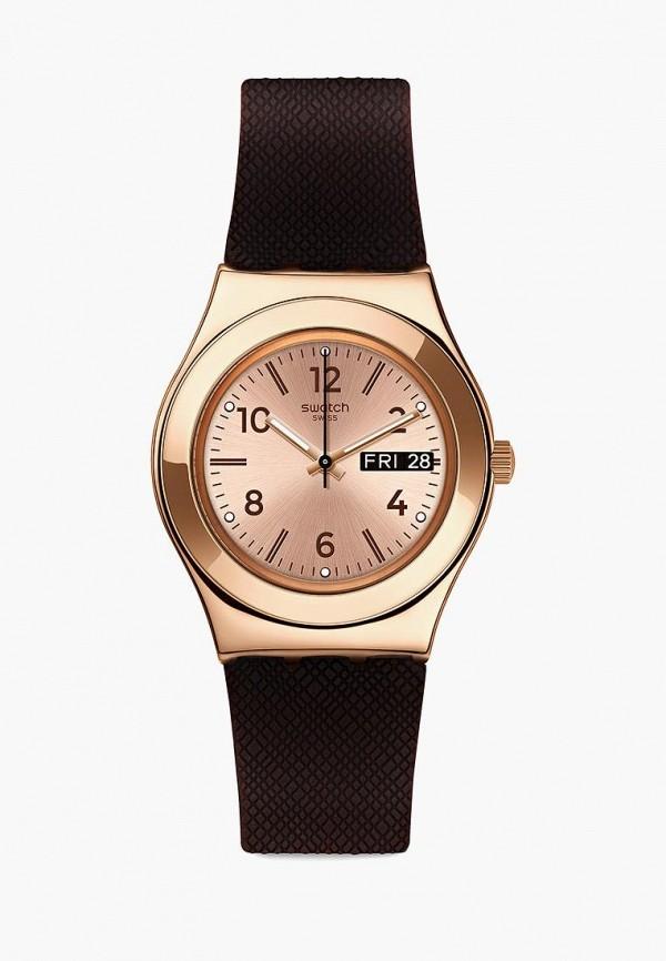 женские часы swatch, коричневые