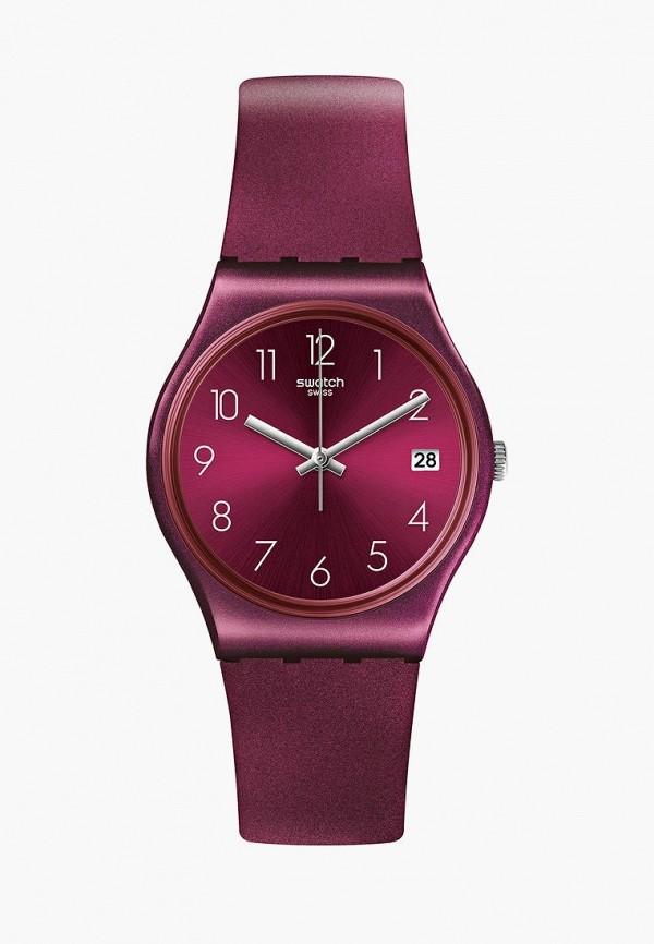 женские часы swatch, фиолетовые