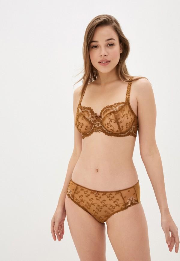 женский бюстгальтер на косточках empreinte, коричневый