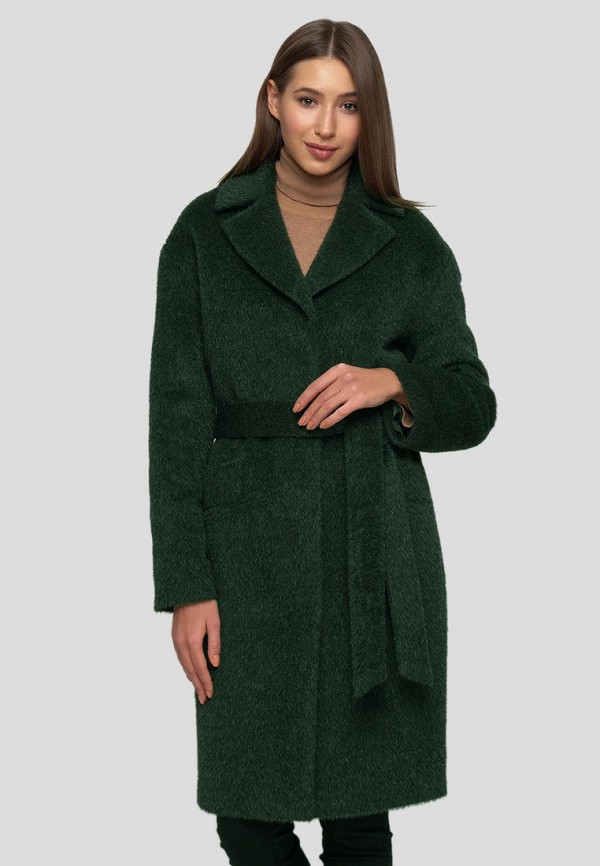 женское пальто florens, зеленое