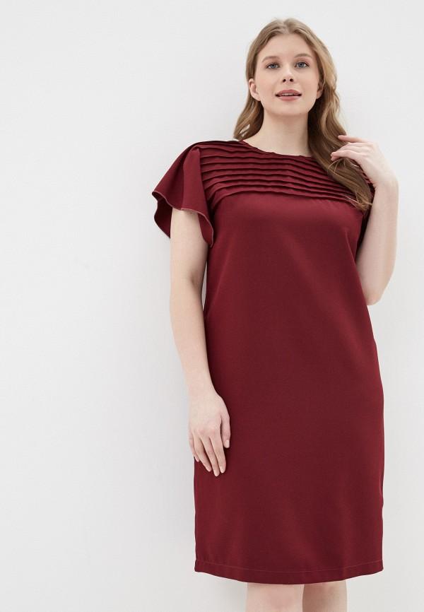 Фото - Платье Vera Nova бордового цвета