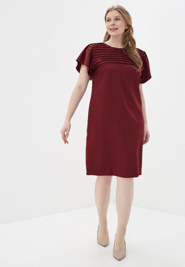 Фото 2 - Платье Vera Nova бордового цвета