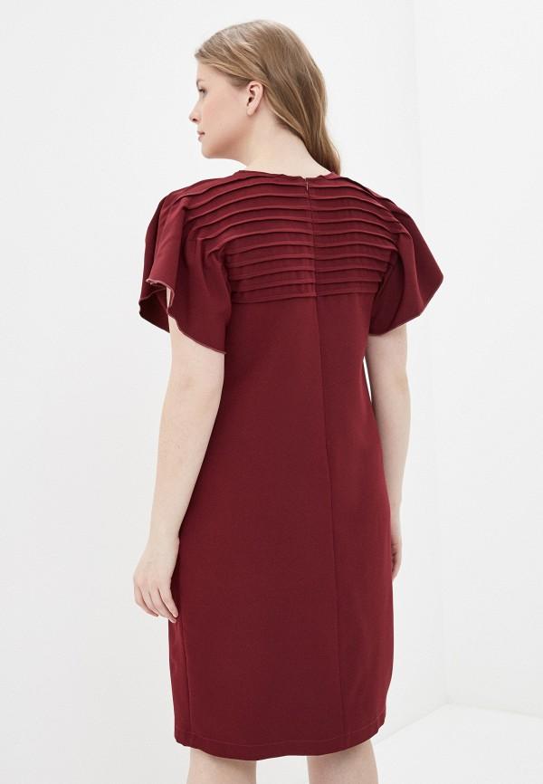 Фото 3 - Платье Vera Nova бордового цвета