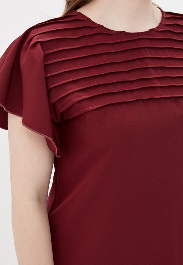 Фото 4 - Платье Vera Nova бордового цвета